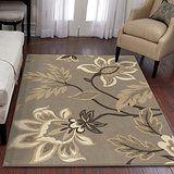 "Orian Rugs Floral Sabrina Light Grey Area Rug (5'3"" x 7'6"")"