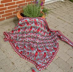 bird shawl by christel.seyfarth, via Flickr  I can only hope to one day be talented enough to make this...