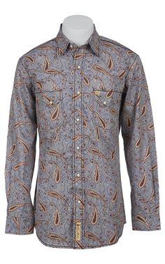 Larry Mahan Mens Long Sleeve Western Snap Shirt LM1410729
