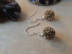 Swarovski Crystal Disco Ball Earrings by pnljewelrydesigns on Etsy, $18.00