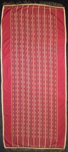 Ulos, ritual cloth, Batak people, Sumatra. Silk, warp ikat, early 20th century
