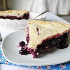 Blueberry Pie... I never was a fan of making blueberry pies, until I saw this recipe. Let em tell you, it is sooo good.... Love the homemade pie filling...  Definitely a recipe to keep.