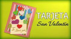 Tarjeta de corazones para San Valentín con papel de scrapbooking - http://www.manualidadeson.com/tarjeta-corazones-san-valentin.html