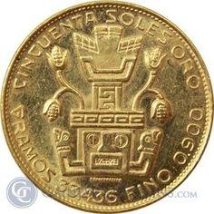 1967 Peru 50 Soles Gold Coin - Inca Indian Head (.9675 oz of Gold)