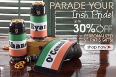 All of PersonalizationMall's St. Patrick's Day Gifts are on sale now for up to 30% off! They have beautiful home decor, barware, apparel and more! #Shamrock #StPats #Irish