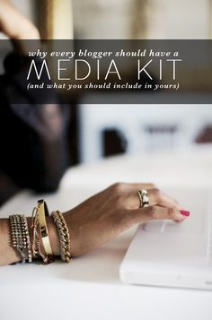 how to put together a media kit (for bloggers) from vmacandcheese.com #bloggingtip