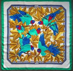 Hermès - Les Perroquets, signé Joachim Metz