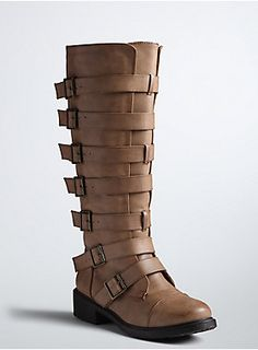 7909ee8bb9f Multi Buckle Strap Tall Boots (Wide Width   Wide Calf)