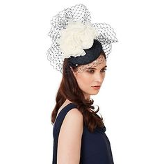 d38fdbb4321 Fascinate everyone with our Veil Flower Pillbox Fascinator. With veil  detail for added oomph this