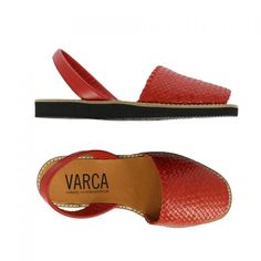 Red Leather Sandal – Varca – Menorcan Sandals