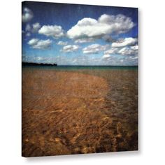 ArtWall Kevin Calkins Crystal Waters Gallery-Wrapped Canvas, Size: 36 x 48, Blue