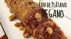 PAN DE PLÁTANO VEGANO! 5 ingredientes! CERO GRASAS/SIN GLUTEN! ♥
