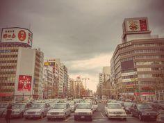 The street in Niigata : www.pajama-days.com #iphotography #art #holidays #asia #street #city #Japan #Niigata