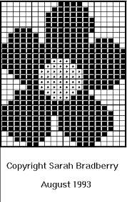Kuvahaun tulos haulle flower knitting chart