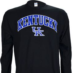 University of Kentucky Arch on a Black Long Sleeve T Shirt