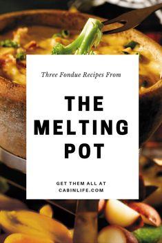 Three Fondue Recipes From The Melting Pot Fondue Recipe For Kids, Fondue Recipe Melting Pot, Melting Pot Recipes, Dips Für Fondue, Best Cheese Fondue, Fondue Party, Easy Cheese Fondue Recipe, Fondue Ideas, The Melting Pot