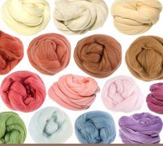 Fibres à filer ou feutrer mérinos teint au naturel