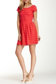 Eyelet Skater Dress by Eight Sixty on @nordstrom_rack