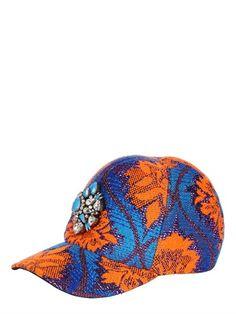Shourouk Embellished Printed Baseball Hat