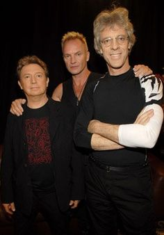 Sting, Stewart Copeland and Andy Summers