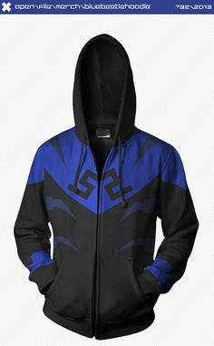 Blue Beetle Hoodie by ~seventhirtytwo on deviantART