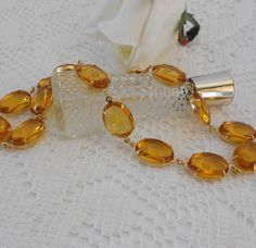 Anna Wintour Inspired, Citrine Necklace, Collet Necklace, Art Deco Necklace, Choker Necklace, Citrine Statement Necklace, Gold Statement Necklace, Estate Jewelry by LisamariesPiece