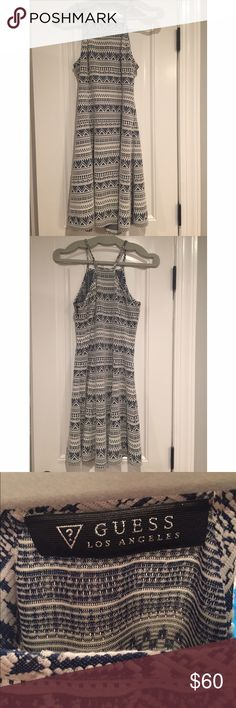 GUESS dress Brand new, never worn, spring or summer, tight on top, flowy on bottom dress.. Guess Dresses Mini