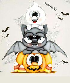 Moldes Halloween, Halloween Lawn, Adornos Halloween, Halloween Cartoons, Halloween Clipart, Halloween Items, Vintage Halloween, Halloween Crafts, Halloween Painting