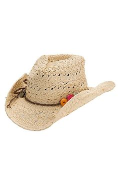 Dorfman Pacific Children s Natural Straw with Color Beads Hat Kids Cowboy  Hats 9e81df63a1f0