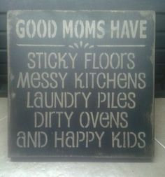 Primitive Country Good Moms Have Distressed Wood Sign | eBay