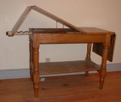 1860s-70s operating/examining table made of oak.