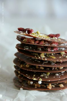 day17047 Waiting for Christmas : day 18 Pétales de chocolat façon mendiants
