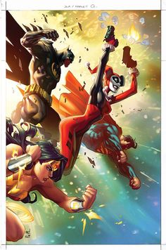 Space Between Panels - Justice League of America #6 (Cover art by Joe...