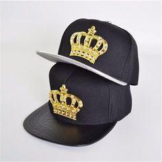 e71144ba6ee Unisex Men Women Snapback Bboy Hats Crown Baseball Adjustable Hip Hop Caps  Black  fashion