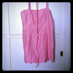 Polka dot dress. Needs a new home! Pink and white polkadot dress with scalloped trim. Worn a few times. I don't need it anymore. I ? Ronson Dresses Midi