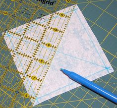 A tutorial for a different way to make a square in a square block
