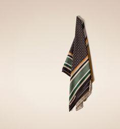 Massimo Dutti Equestrian Collection silk foulard