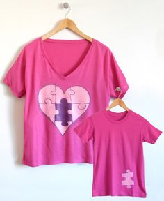 Express yourself with your little one with this 'Piece of My Heart' Mom & Me T-Shirt Set from Cloud & Clover. A great gift for Valentine's Day and any other fun occasion!