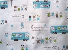 Image result for kids fabrics bus
