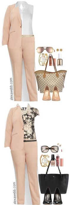 Plus Size Professional Looks for Spring - Plus Size Khaki Suit Outfit - Plus Size Work Outfit - Plus Size Fashion for Women - alexawebb.com #alexawebb