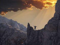 Photo about Joyful men on the rock. Image of acrobat, clouds, climber - 1667277 Climbers, The Rock, Clouds, Sunset, Joyful, Adobe Illustrator, Illustration, Happy, Happiness