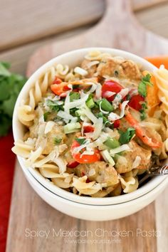 Spicy Mexican Chicken Pasta | Bake Your Day