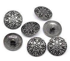 Amazon.com: PEPPERLONELY Brand 10PC Antiqued Silver Carved Pattern Round Scrapbooking Sewing Buttons 25mm (Approximately 1 Inch)