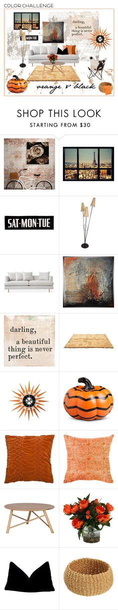 """""""industrial city loft"""" by jennross76 ❤ liked on Polyvore featuring interior, interiors, interior design, home, home decor, interior decorating, Sugarboo Designs, Improvements, Home Decorators Collection and Bandhini Homewear Design"""