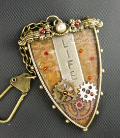 Flower Foot Designs: Life Bezel Keychain fob using products from @Spellbinders @Kool Tak @ICE Resin® and @Tim Holtz