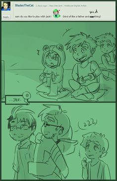 Beans Play w/h Jack father n' kid style? by Milk-Addicc on DeviantArt Wall E Eve, Darkiplier And Antisepticeye, Youtube Logo, Septiplier, Look What I Made, How To Make Comics, Markiplier, Kid Styles, A Comics