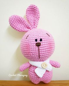 If you are in love with chubby animal stuff, this Cute Fat Bunny Amigurumi pattern will please you for sure. Enjoy our instructional crocheting post and Crochet Toys Patterns, Amigurumi Patterns, Stuffed Toys Patterns, Kawaii Crochet, Free Crochet, Double Crochet, Single Crochet, Crochet Bodies, Yarn Dolls