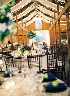 Another view of the barn wedding with blue and green accents #wedding #bluegreen #barn