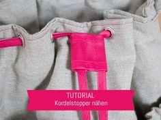 Einen Kordelstopper aus Kunstleder oder Baumwolle nähen