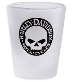 Harley Davidson skull shot glass